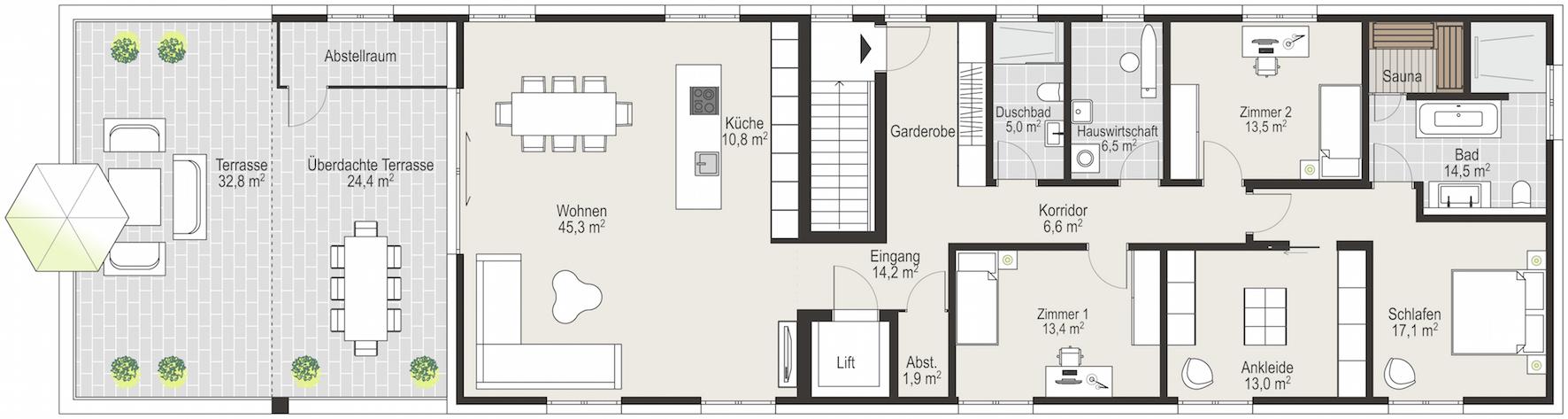 penthaus in goldach schweiz immozeichner. Black Bedroom Furniture Sets. Home Design Ideas